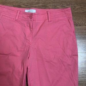 Talbots petite coral shorts